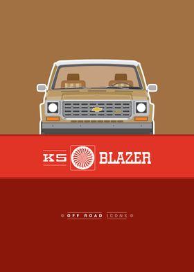Blazer K5 brown red