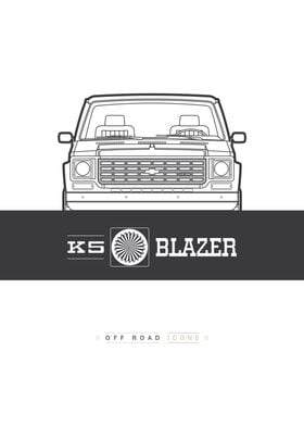Blazer K5 lines badge