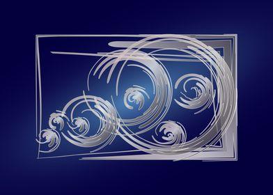 Scattered Fibonacci circle