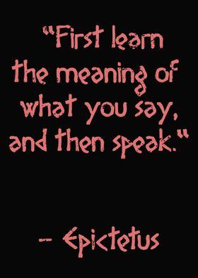 Epictetus Quote Truth