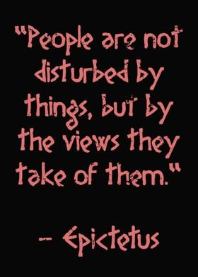 Epictetus Quote Stoic View