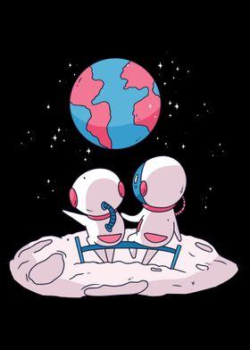 Cute Astronaut Scifi Spac