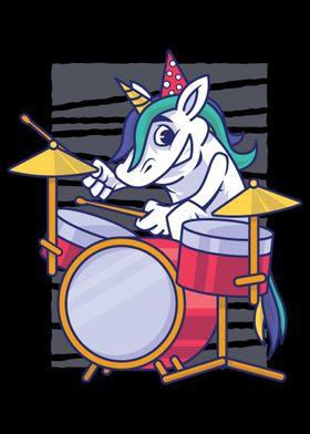 Rainbow Unicorn Drums Musi