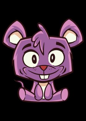 Purple Cartoon Cute Mouse