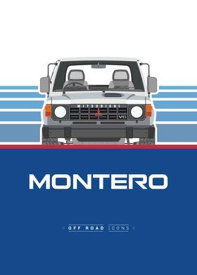 Montero blue and white