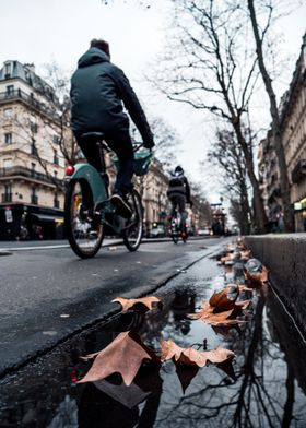 Parisian cyclist