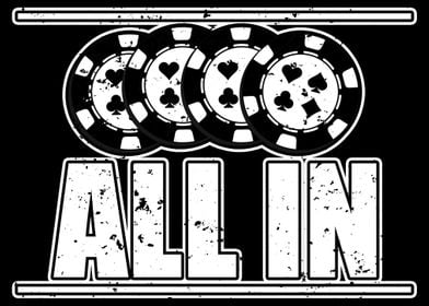 All in design for poker an