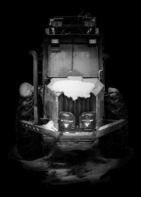 Frost Covered Harvester