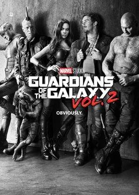 Guardians of the Galaxy vol. 2 Black and White