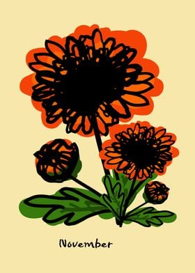 November birth flower