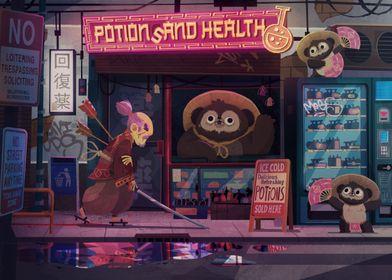 Tanuki Potions and Health