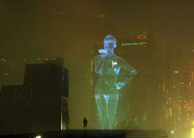Hologram Lady