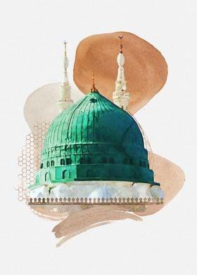 Islamic Art Islamic Poster Medina Islamic Mural Medine