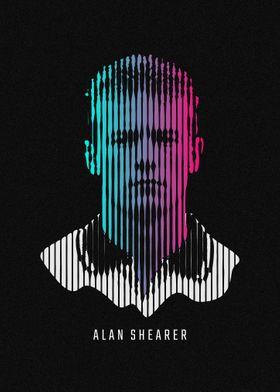 Alternative Fu/ßball Wandkunst Alan Shearer Poster Verschiedene Gr/ö/ßen Drucken Rahmen Nicht Inbegriffen