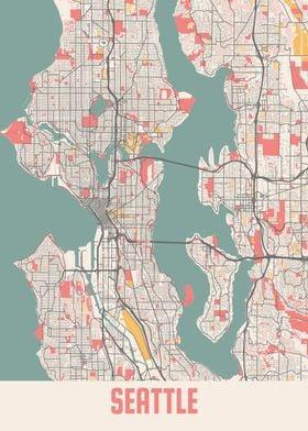 Seattle Chalk Map