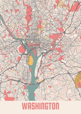 Washington Chalk Map