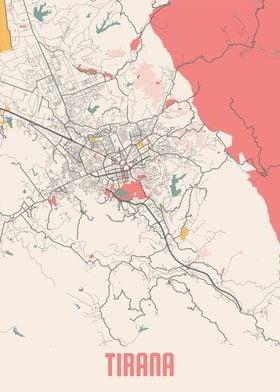 Tirana Chalk Map