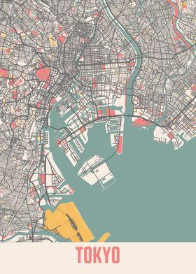 Tokyo Chalk Map