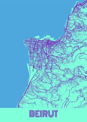 Beirut Galaxy City Map