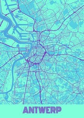 Antwerp Galaxy City Map