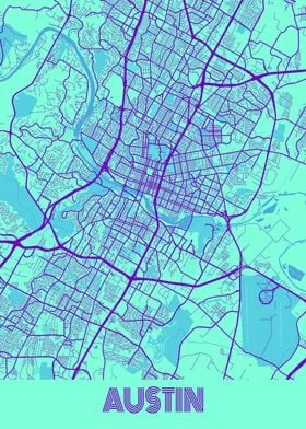 Austin Galaxy City Map