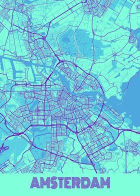 Amsterdam Galaxy City Map