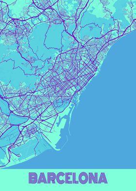 Barcelona Galaxy City Map