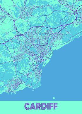 Cardiff Galaxy City Map