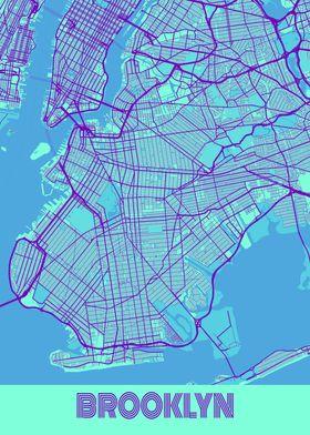 Brooklyn Galaxy City Map