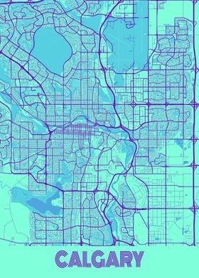 Calgary Galaxy City Map