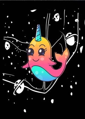 Narwhale baby rainbow