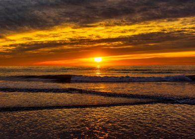 Sunrise beach landscape