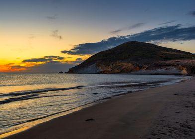 Seascape sunset beach sky