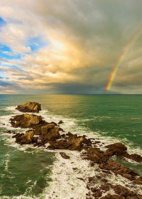 Rainbow Sea Landscape Sky