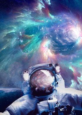 Astronaut Wormhole Space