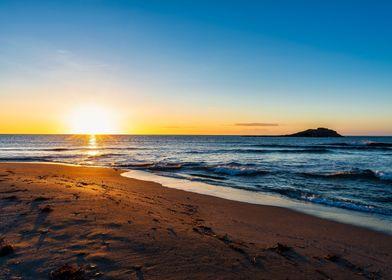 Sunset beach landscape sea