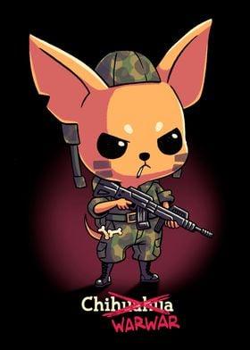 Cute Chihuahua Dog Soldier