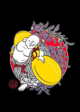 Hotei the laughing Buddha