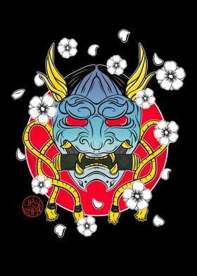 Hannya demon mask