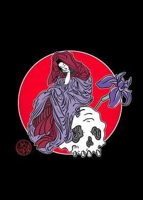 Jigoku Dayu and skull