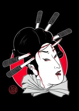 Namakubi of a geisha