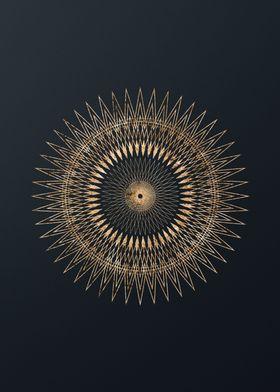 Gold Glyphs Mandalas Rune