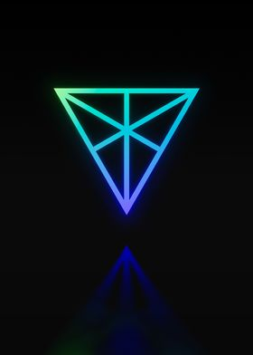 Neon Geometric Glyph Rune