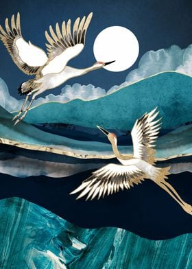 Midnight Cranes