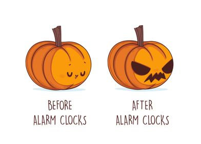 Before After the alarm