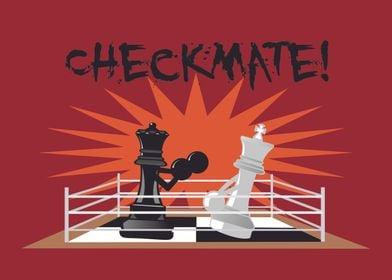 Partita a scacchi fantasy DIO VS DIAVOLO Poster Art Print Taglia A3 A4