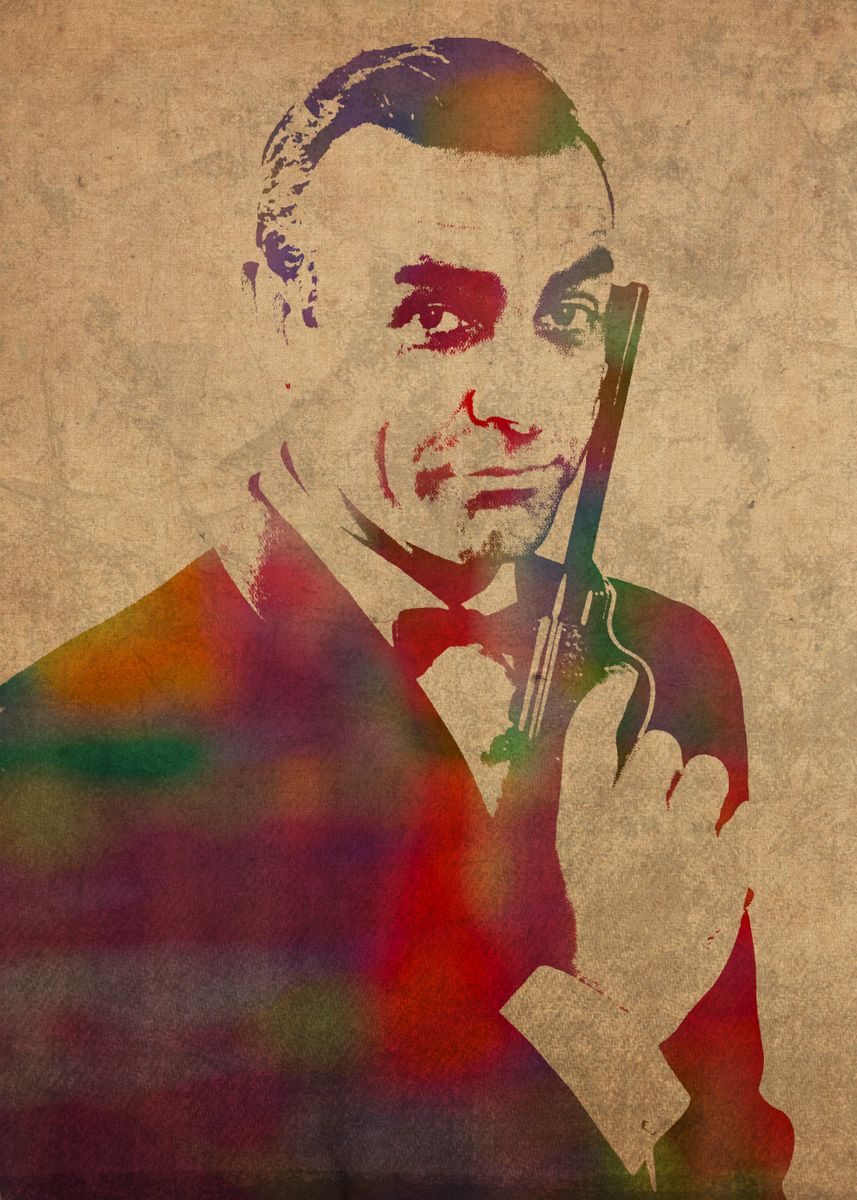Sean Connery As James Bond Wat Metal Poster Design Turnpike Displate