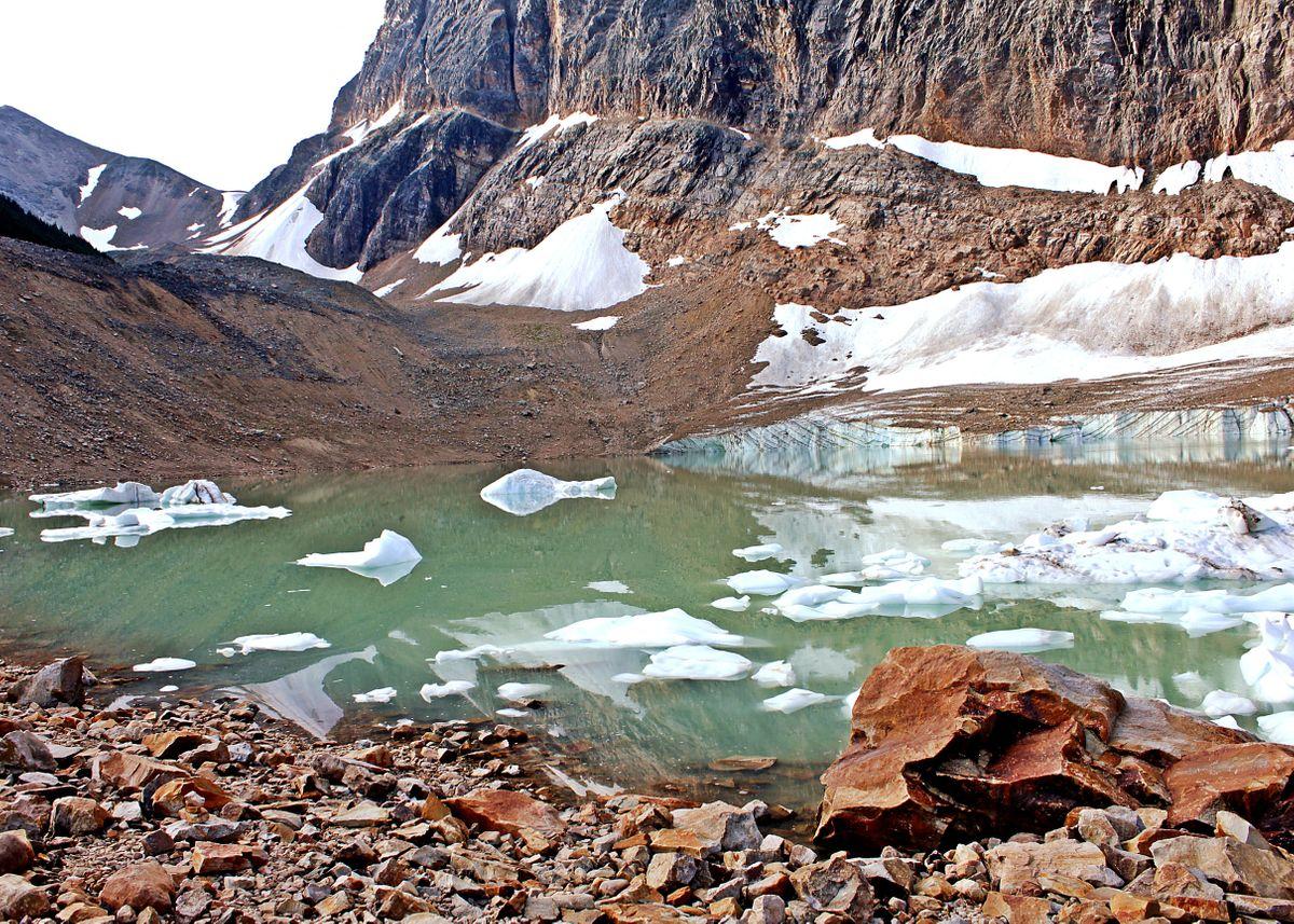 Lake Beneath Angel Glacier Jasper National Park