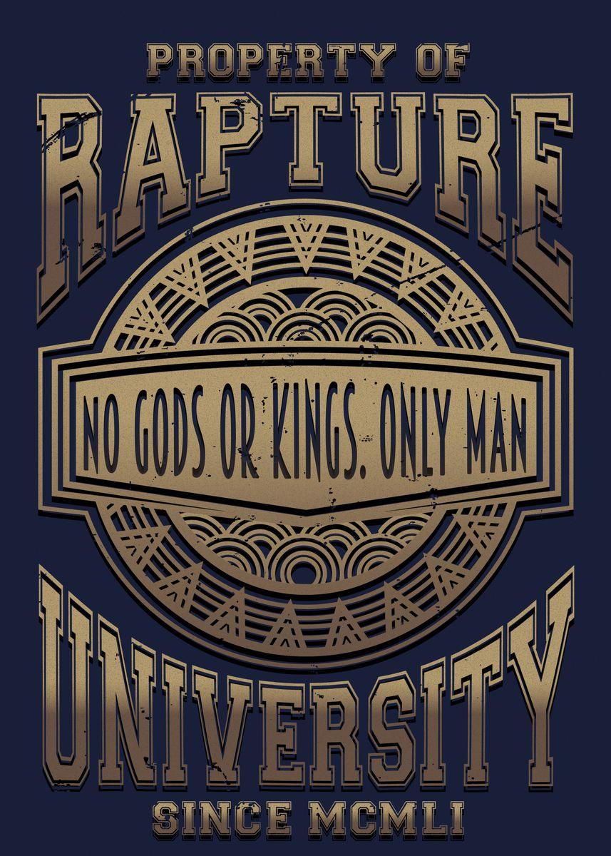 Tin Sign Vintage Bioshock Rapture No Gods Or Kings Only Man