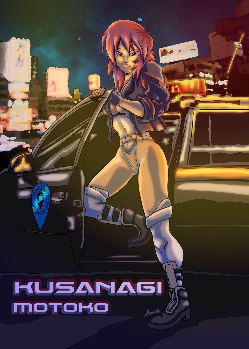 Fan Art De Motoko Kusanagi De Metal Poster Print Aonaka Displate